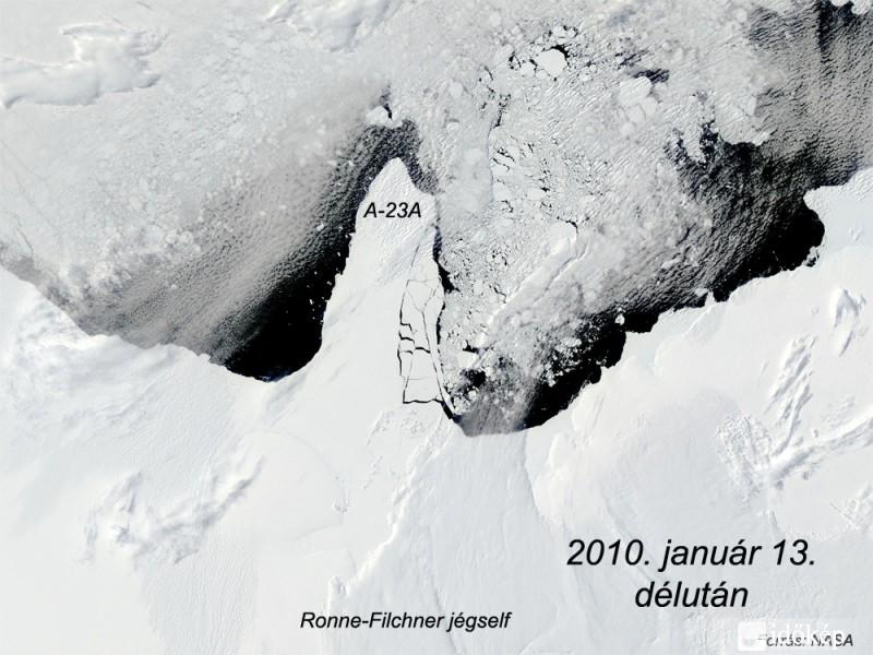 Olvadó jégtakaró a tengeren