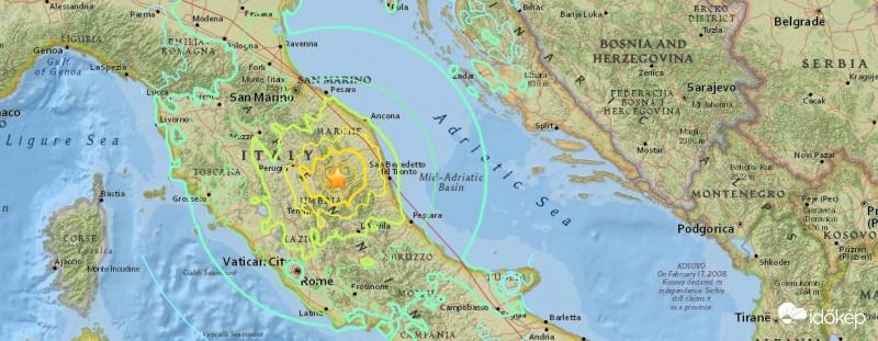 Két földrengés rázta meg Olaszországot