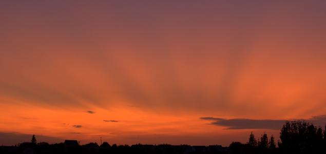 Gyönyörű naplementét hozott a kanadai füst