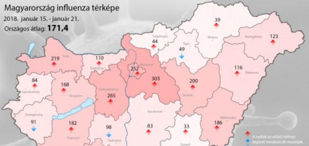 influenza térkép óév influenza térkép