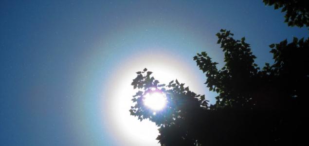 Pollenkoszorú veszi körül a Napot