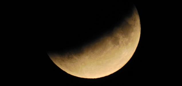 Részleges holdfogyatkozás volt éjjel