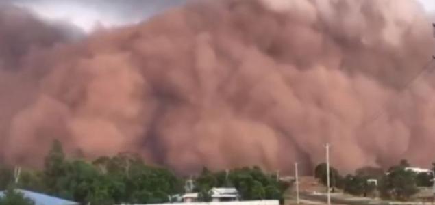 Pokoli homokvihar Ausztráliában