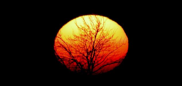Festői naplemente előzte meg a ködöt
