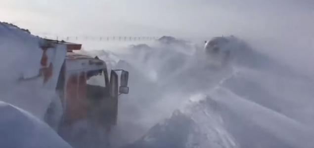 Hó alatt Kazahsztán