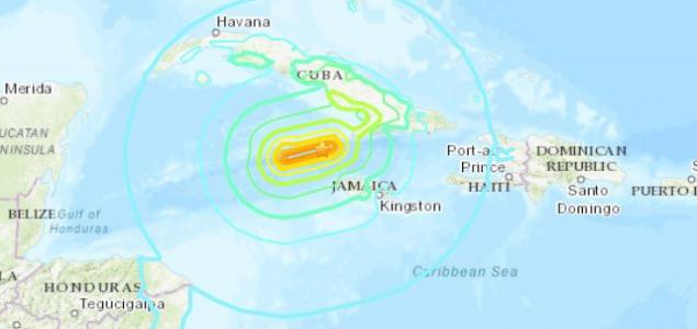 7,7-es erősségű földrengés a Karib-térségben