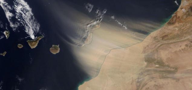 Homokvihar temeti be a Kanári-szigeteket