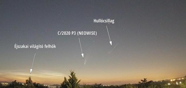Hullócsillag is felragyogott az üstökös mellett