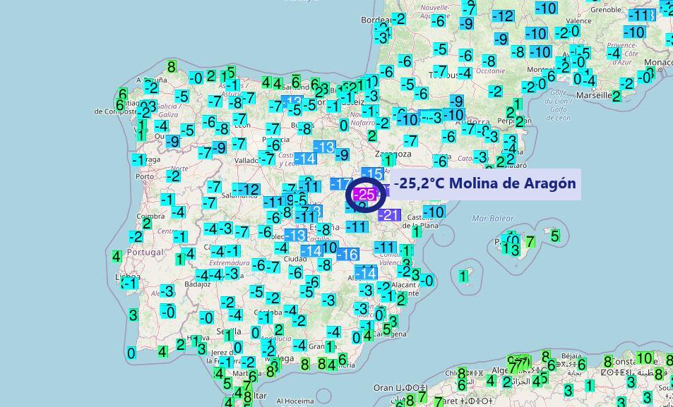 Hidegebb volt a spanyoloknál mint Moszkvában