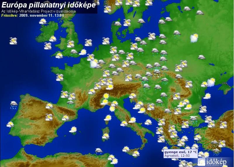 időjárási térkép európa Új Európa időkép időjárási térkép európa