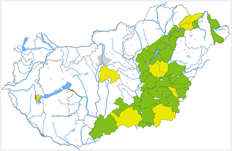 Árhullám jön a Tiszán és néhány északkeleti mellékfolyóján