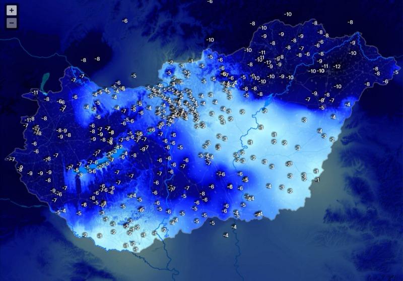 15 fokos hőmérsékleti kontraszt alakult ki