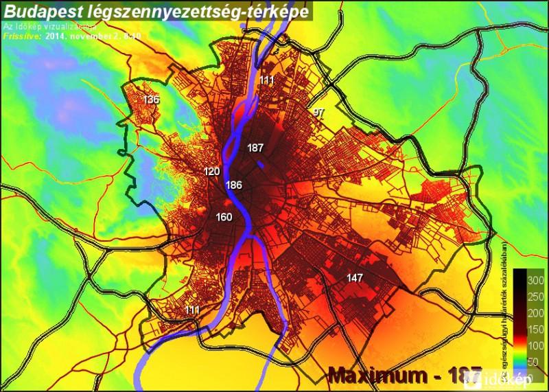légszennyezettségi térkép budapest Visszavonták a szmogriadót légszennyezettségi térkép budapest