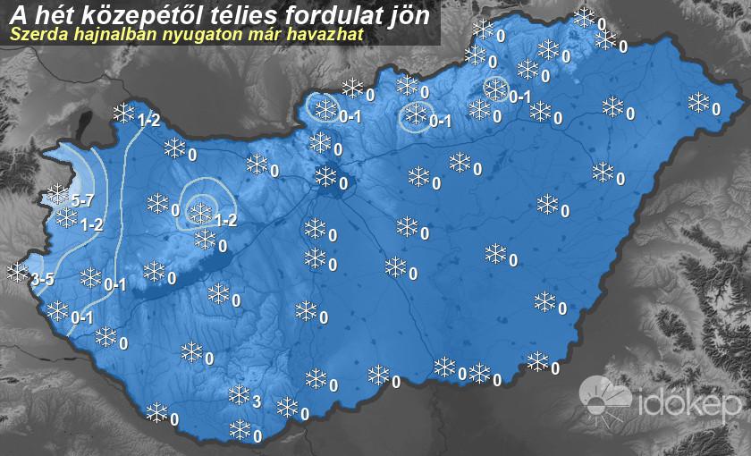 Pénteken is havazni fog a Dunántúlon