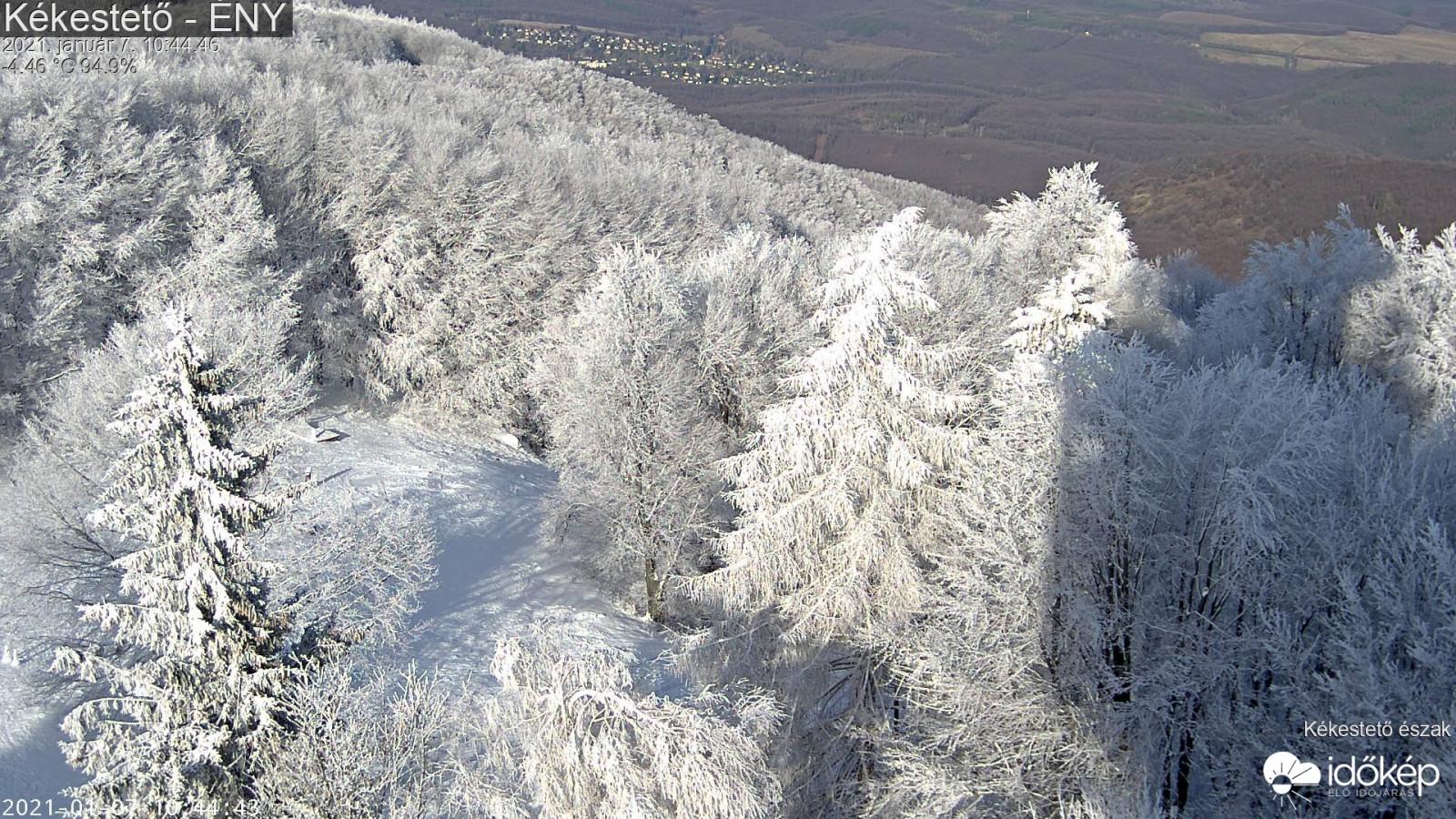 Téli mesevilág a Kékesen